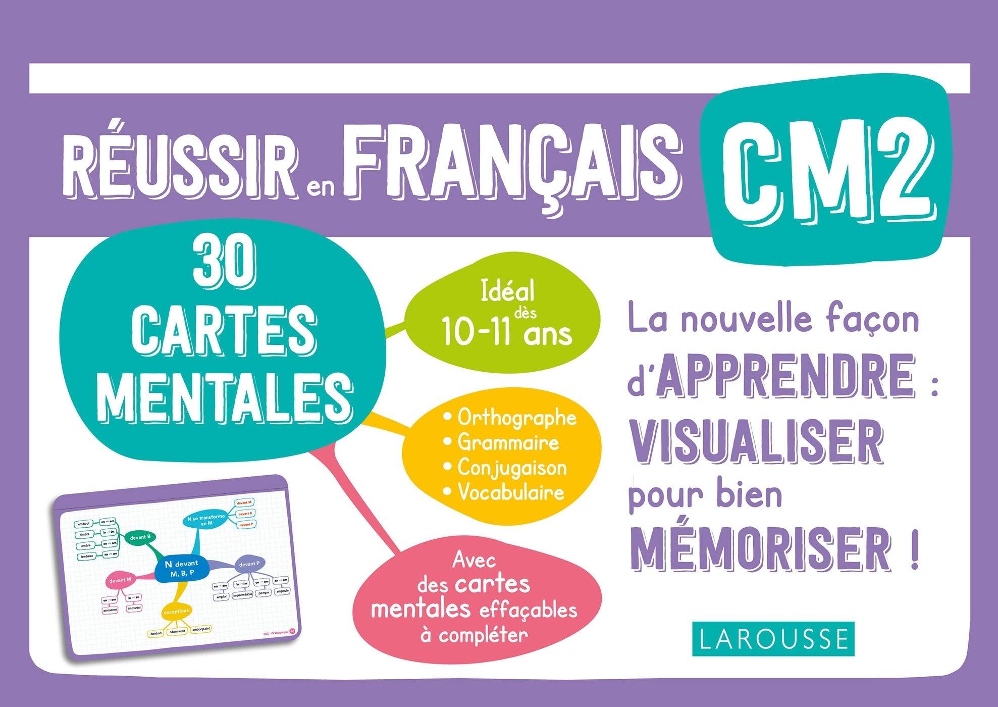30 cartes mentales à compléter : Français - CM2 (10/11 ans)