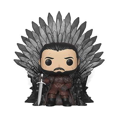 Funko- Pop Deluxe: Game of S10: Jon Snow Sitting on Iron Throne Figura Coleccionable, (37791): Juguetes y juegos