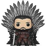 Funko Pop Deluxe Game Of Thrones: Jon Snow Sitting On Throne Nc Games Padrão