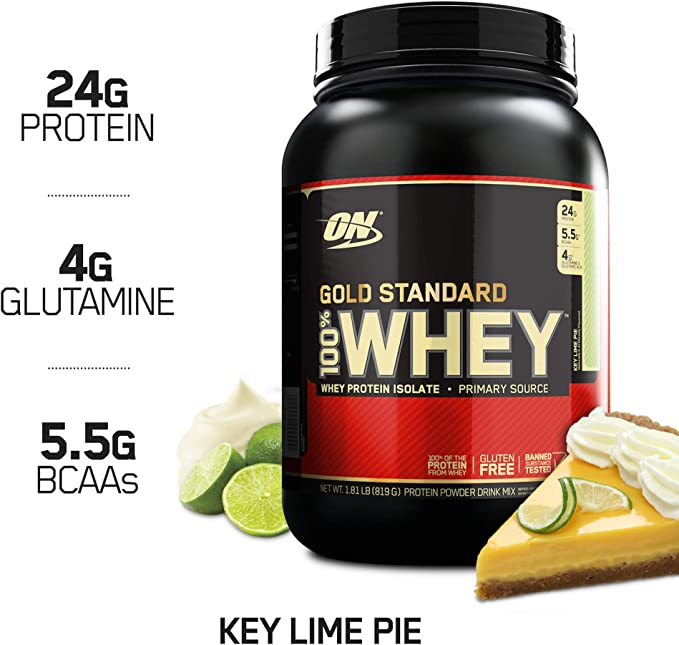 Amazon Com Optimum Nutrition Gold Standard 100 Whey Protein Powder Key Lime Pie 1 8 Pound Health Personal Care