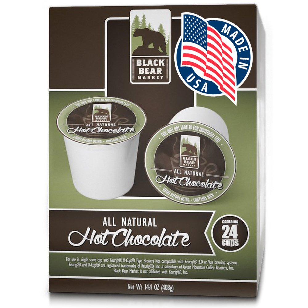 Black Bear Market All Natural Hot Chocolate 24 Count