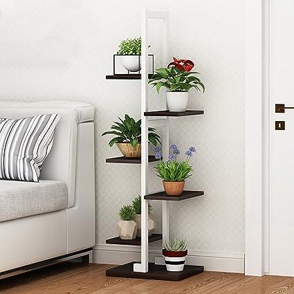 Varias Plantas Interior multifunción estante de hierro forjado dormitorio cuadro decorativo piso