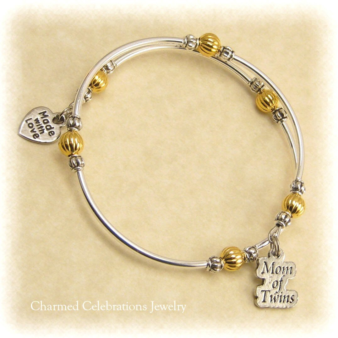 Mom Gift Photo Bracelet Charms with 5 charms single or double sided for 5 or 10 pictures