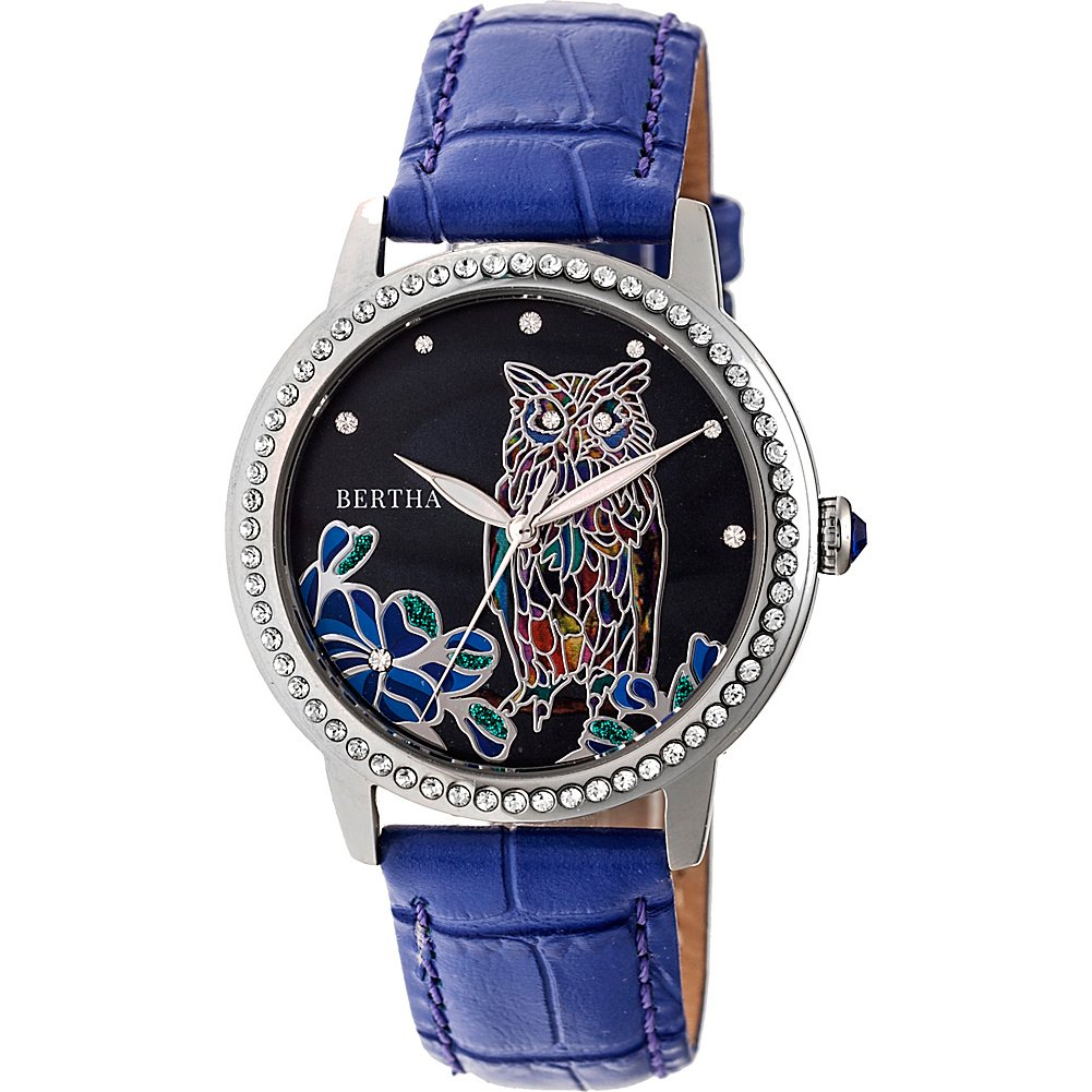 Amazon.com: Bertha Watches Madeline Mother-of-Pearl Womens Watch (Purple): Bertha: Watches