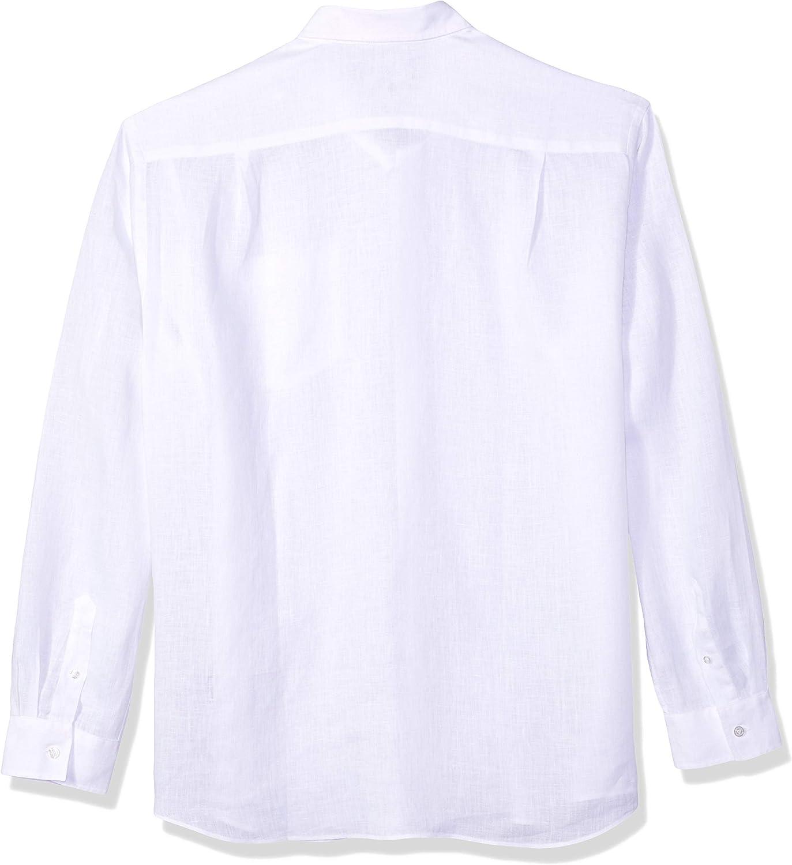 Vilebrequin Men's Caroubis Solid Linen Button Shirt White