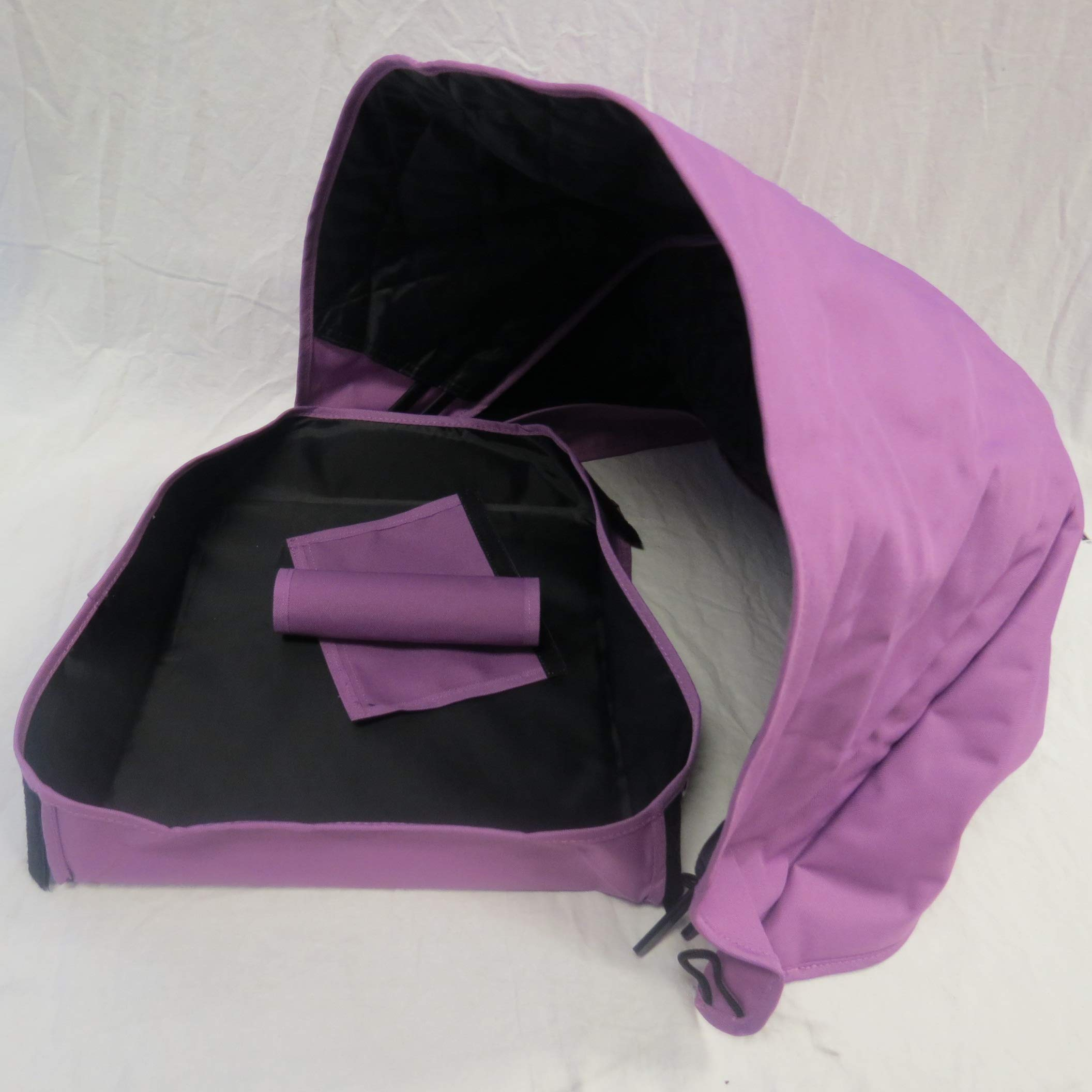 Purple Sun Shade Canopy with Wires and Under Seat Storage Basket Plus Free Handle Bar Covers for Bugaboo Cameleon 1, 2, 3, Frog Baby Child Strollers