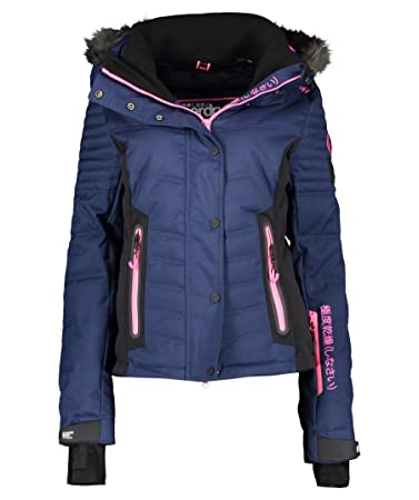 timeless design ccd7d 262fa Superdry Luxe Snow Puffer Women's Ski Jacket, Navy (300), XS ...