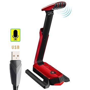 Micrófono USB, Beexcellent Microfono Condensador Reducción de Ruido Tarjeta de Sonido Interna 7.1 Plug and Play Compatible PC PS4 MAC Grabación ...