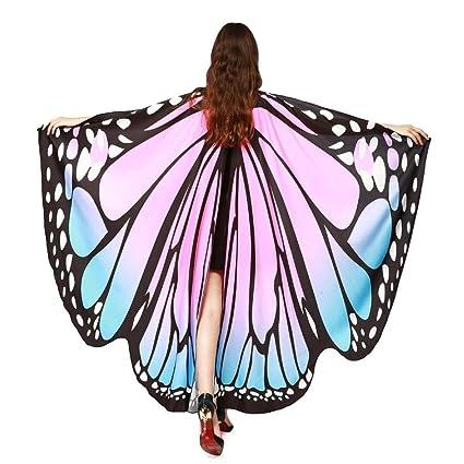 30d6c191ce048 Amazon.com: Hemlock Butterfly Shawl, 2018 New Womens Halloween ...