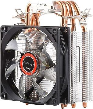 CPU Fans, DC 12V 1600PRM 40.5cfm Disipador de calor Rodamiento ...