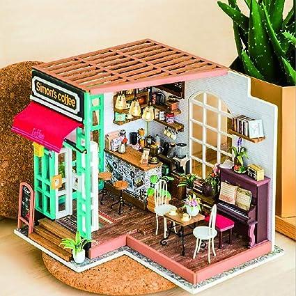 Amazon com: Unbekannt 3D DIY Simon's Cafe House with LED