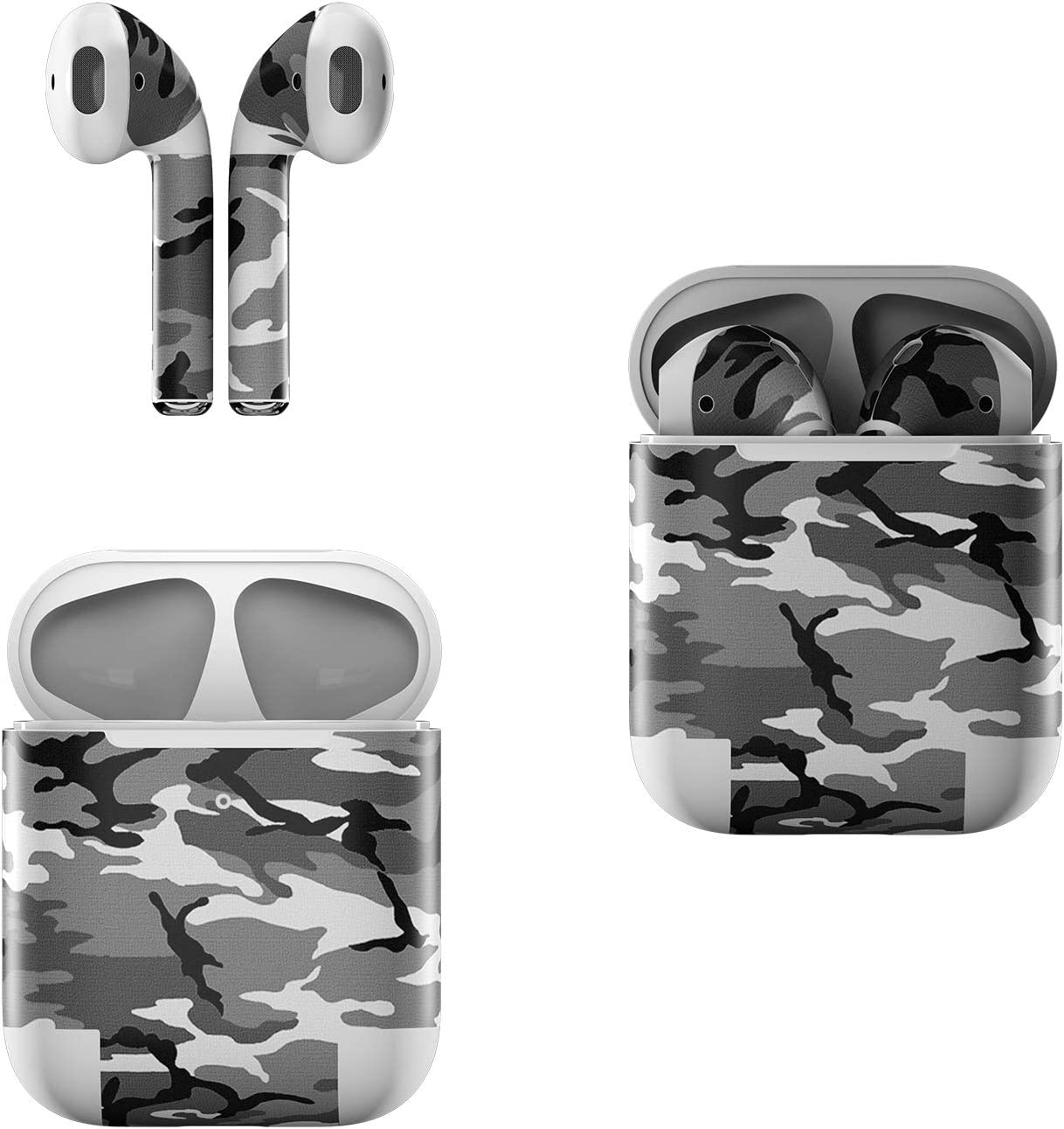 Skin Decals for Apple AirPods - Urban Camo - Sticker Wrap Fits 1st and 2nd Generation