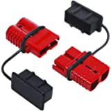 OrionMotorTech 2-4 Gauge 175A Battery Cable Quick Connect/ Disconnect Plug Kit Recovery Winch Trailer, 12-36V DC