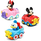 VTech 80-406500 Go! Go! Smart Wheels Disney Starter Pack with Mickey Mouse Convertible, Minnie Mouse Convertible and…