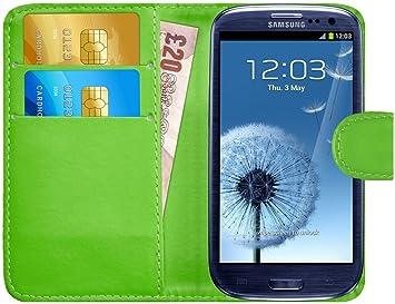 G-Shield Funda Para Samsung Galaxy S3, Carcasa Libro de Cuero con Tapas y