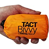 TACT Bivvy Emergency Survival Sleeping Bag - Lightweight, Waterproof Bivy Sack Emergency Blanket with HeatEcho Thermal Blanket Material & Nylon Bag, Use in Survival Kit, Camping Gear & Survival Gear