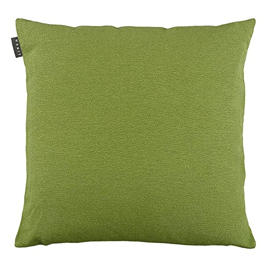 Funda de cojín de Lino, algodón, Color Verde Musgo, 60 x 60 ...