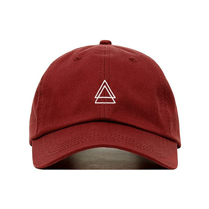 a73d434a81d4 jinhuilvcaigongsi Double Triangle Baseball Hat, Embroidered Dad Cap,  Unstructured Soft Cotton, Adjustable Strap Back (Multiple Colors)  Amazon.de   ...