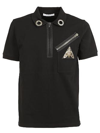 f74d4d4e570a5 Givenchy Men s 17J7291654001 Black Cotton Polo Shirt  Amazon.co.uk ...