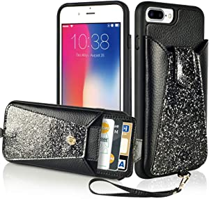 LAMEEKU Wallet Case for Apple iPhone 7 Plus and 8 Plus Sweepstakes