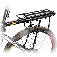 Queta Bagagedrager voor mountainbike, verstelbare fietsbagagedrager, aluminiumlegering racefiets, maximale belasting 100…
