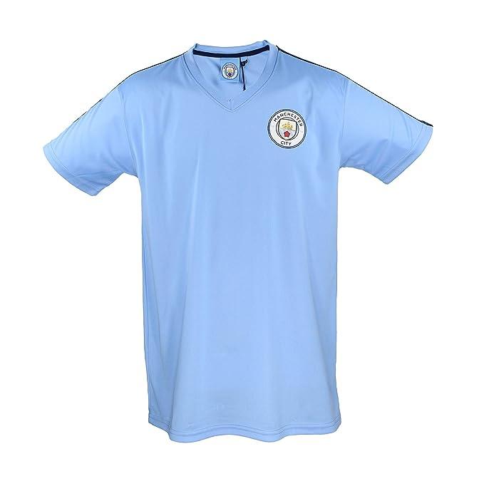 Camiseta Manchester City 1894 Réplica Oficial - Azul Celeste con ...