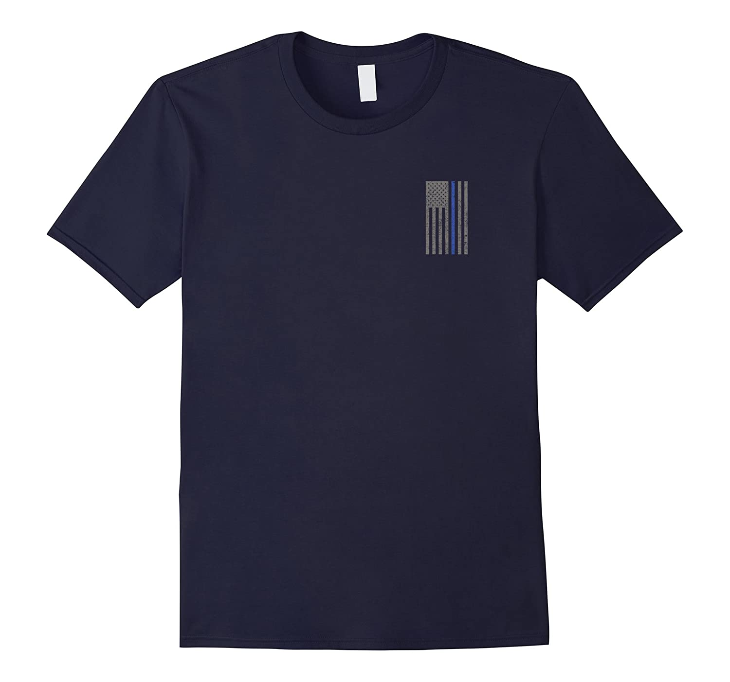 Police Officer Law Enforcement Thin Blue Line Shirt-RT