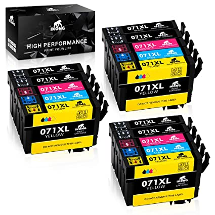 IKONG Compatible Epson T0711 T0712 T0713 T0714 Cartuchos de Tinta ...