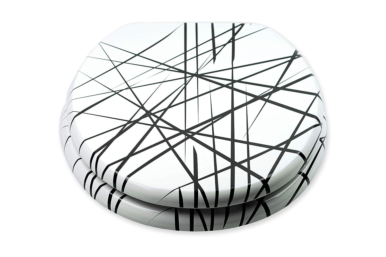Tohaa Design Abattant WC en Bois Finition Haute qualit/é avec Descente Progressive Edition Arrow