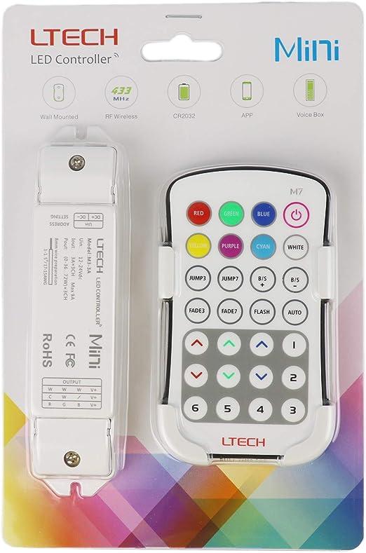 Eclairage /à froid bande LED blanche Natural LTRGBW M5 LED Controller Dimmer couleur Contr/ôle de la temp/érature de Dimming r/églable chaud M5 WW-NW-CW CT
