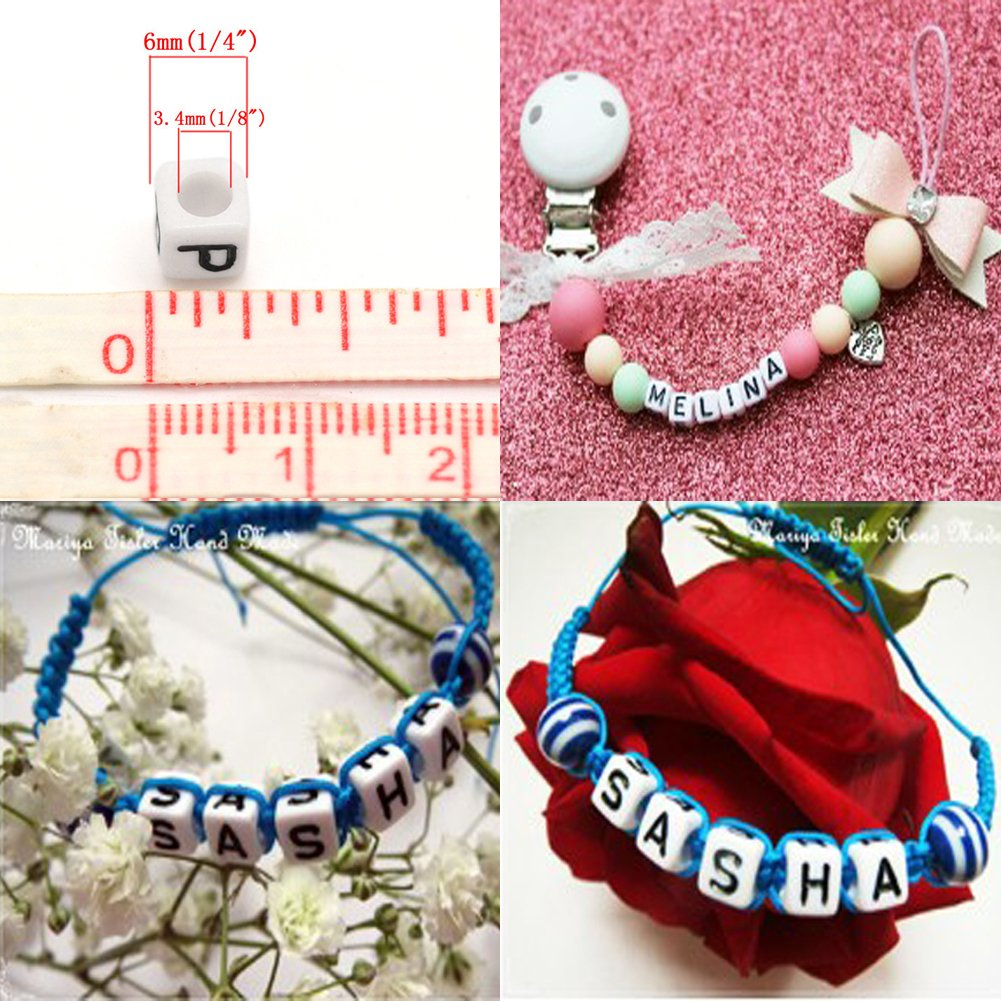 Amazon.com: Letter Beads For Jewelry Making Alphabet Beads For Kids ...