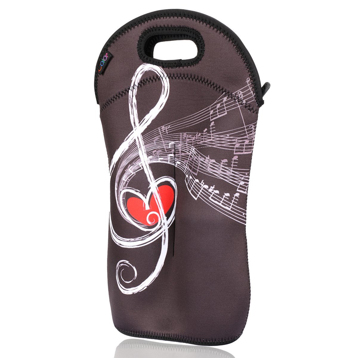 iColor insulated Wine bag tote Holder Covers for Champagne, Wine, Beer Bottles, Beverages, Containers, Soft Drinks, Sodas, Sports Water Bottles, Baby Bottles, Make of thick Neoprene, Zipper Closure, Machine-Washable Wine bag-01