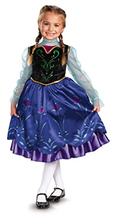 uhc cute girls anna disney frozen toddler kids fancy dress halloween costume