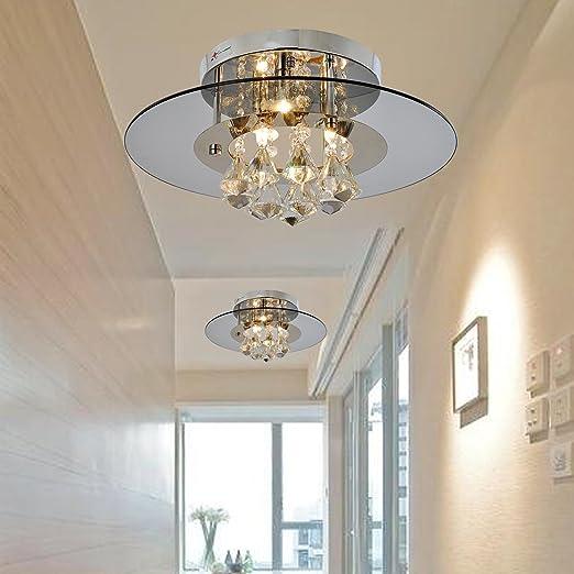 Lámpara cristal simple y elegante Lámpara de techo cristal ...