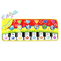 Coolplay Musical Dancing Crawl Mat, Early Education Music Piano Keyboard Animal Toy, Touch Play Singing Blanket Gym Carpet Baby GiftCoolplay® Piano Keyboard Play Mat, Learn Singing Gym Carpet Touch Play Mats for Kids Baby,28x 11 Inches
