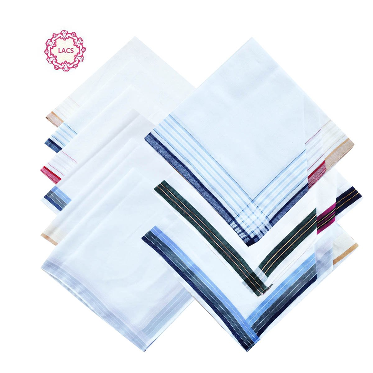 3 STyles of Mens Fashion New Cotton Handkerchiefs Mix Pack