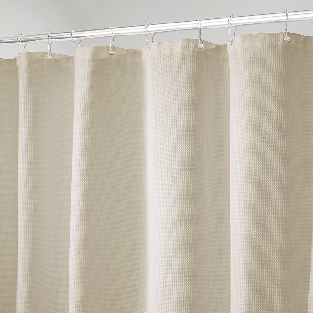 Amazon.com: mDesign Hotel-Style Fabric Shower Curtain - Long, 72 ...