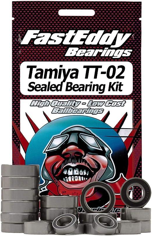 16pcs Metal Sealed RC Ball Bearing Kit Set Tamiya TT02 Chassis Car