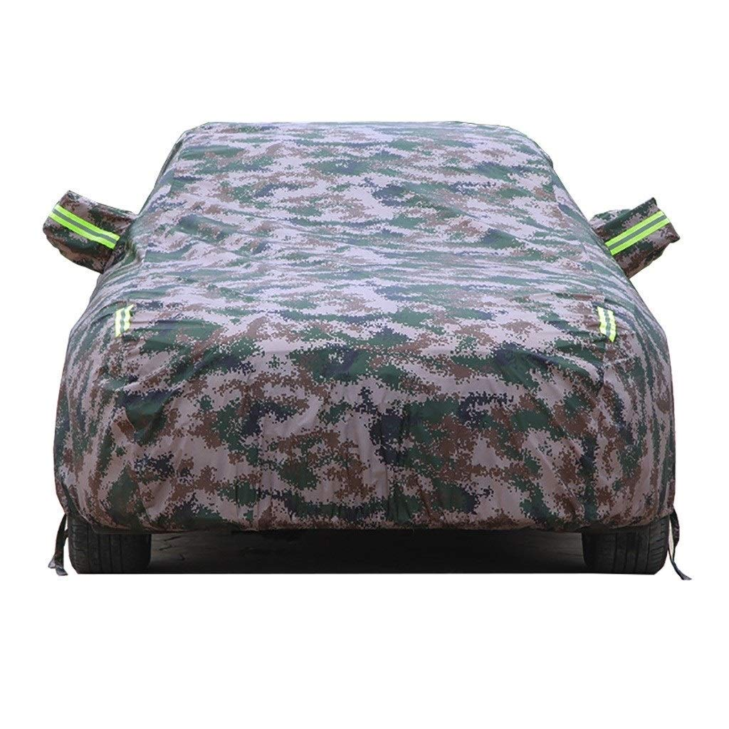 Jsmhh Compatible with Peugeot 206 Car Cover, Four Seasons Universal Fully Waterproof Scratch Proof Durable Car Cover Breathable Cotton Lined Heavy Duty (Color : Camouflage) by Jsmhh