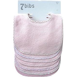 Babero de algod/ón para beb/é con cierre de cordones o de velcro y tela aida para poder bordar el nombre Leoncino Avorio