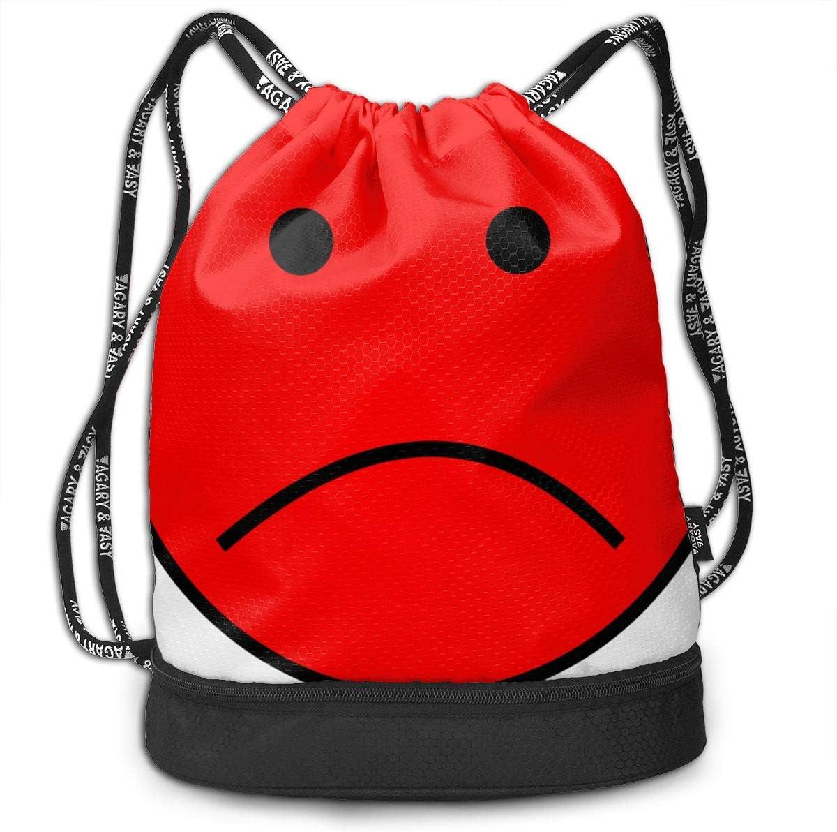 Red Sadness Wrong Expression Drawstring Bag Multipurpose Bundle Dance Bag Sack Pack