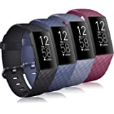 Tobfit 4 Pack Bands Compatible for Fitbit Charge 4 / Fitbit Charge 3 / Charge 3 Se, Silicone Replacement Wristbands for…