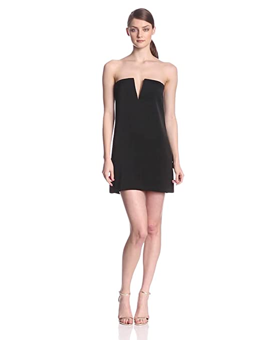2a8d52d7b115 Amazon.com: BCBGMAXAZRIA Women's Nahara Strapless Split Neck Cocktail Dress:  Clothing