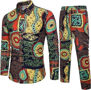 GRMO Chemise et Pantalon pour Homme Imprimé