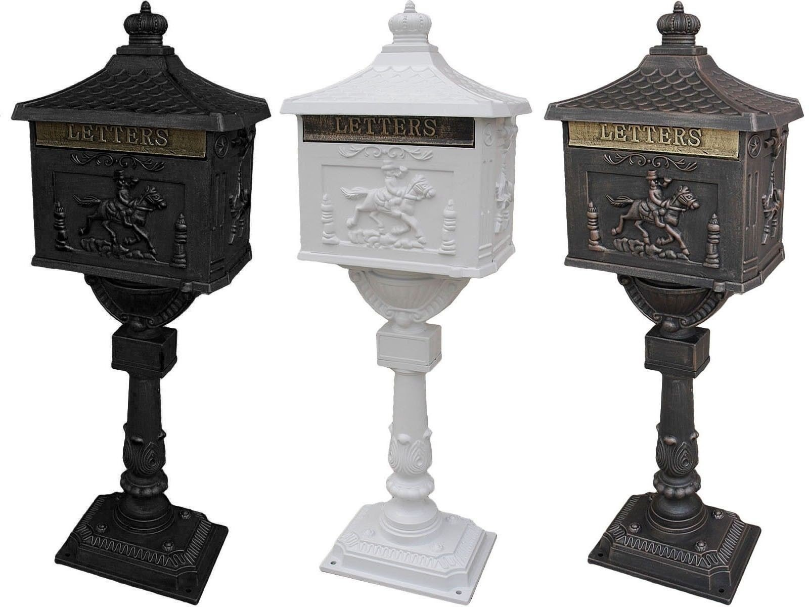Cast Aluminum Mail Box Postal Box - Brown by Apontus