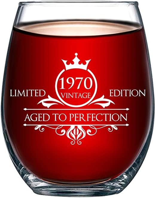 Amazon Com 1970 50th Birthday Gifts For Women And Men Wine Glass