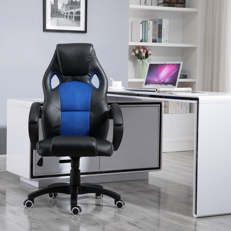 Samincom Sedia da Ufficio con Schienale in Rete, Sedia da Gioco Girevole, L49 x P49 x H109-120CM
