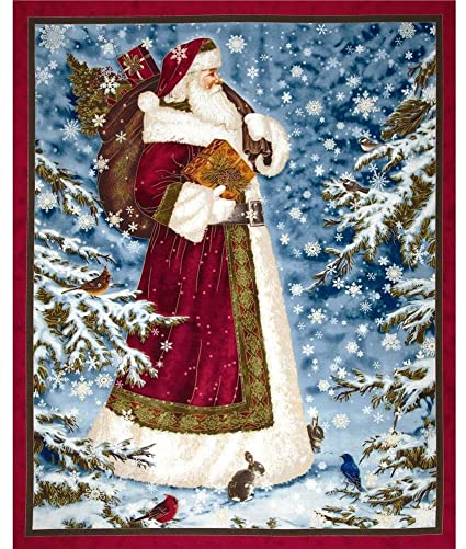 Amazon Quilting Treasures Father Christmas Santa Clause