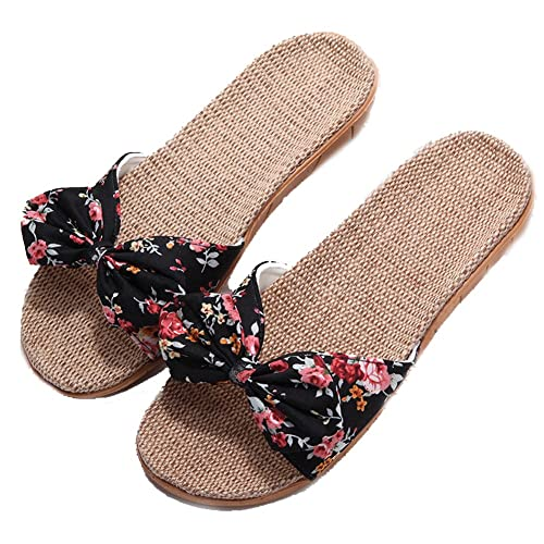 92d38b5330c3c9 Amazon.com  Womens Linen Slippers