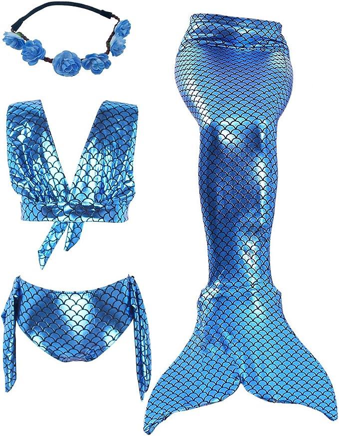 Amazon.com: AiMiNa - Juego de 3 piezas de bikini con cola de ...